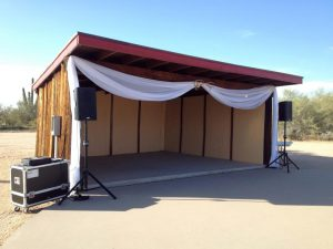 Weddings Sound Stage - AZ Sound Pro
